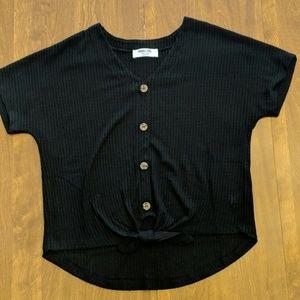 Waffle Button Up Shirt
